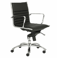 Eurostyle Dirk Black/Chrome Low Back Office Chair