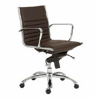 Eurostyle Dirk Brown/Chrome Low Back Office Chair