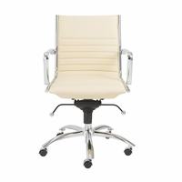 Eurostyle Dirk Butter/Chrome Low Back Office Chair