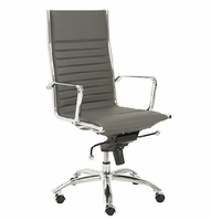 Eurostyle Dirk Gray/Chrome High Back Office Chair