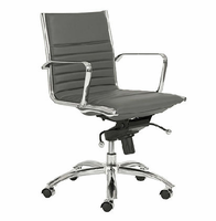 Eurostyle Dirk Gray/Chrome Low Back Office Chair