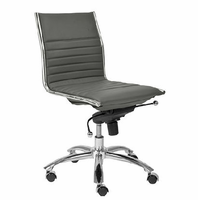 Eurostyle Dirk Gray/ChromeLow Back Office Chair without Arms