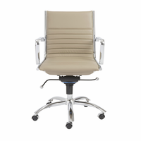 Eurostyle Dirk Taupe/Chrome Low Back Office Chair
