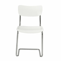 Eurostyle Erling White/Chrome Side Chair (Set of 4 )
