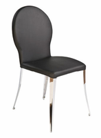 Eurostyle Farid Black/Chrome Dining Chair (set of 2)