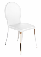 Eurostyle Farid White Fabric/Chrome Dining Chair (set of 2)