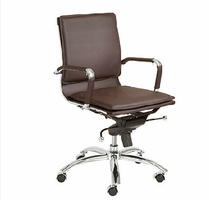 Eurostyle Gunar Pro Brown/Chrome Low Back Office Chair