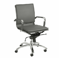 Eurostyle Gunar Pro Gray/Chrome Low Back Office Chair