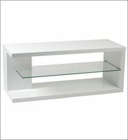 Eurostyle Hilda High Gloss White Lacquer Media Stand