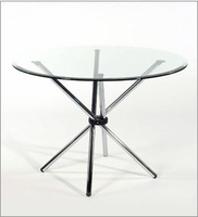Eurostyle Hydra Round Glass Top Table