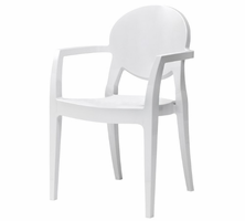 Eurostyle Igloo Gloss Steely White Armchair (Set of 4)