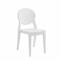 Eurostyle Igloo Gloss Steely White Chair (Set of 4)