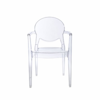 Eurostyle Igloo Transparent Armchair (Set of 4)