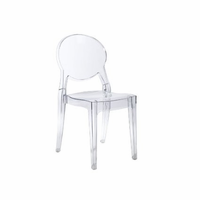 Eurostyle Igloo Transparent Chair (Set of 4)