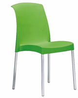 Eurostyle Jenny Green/Aluminum Chair (Set of 6)
