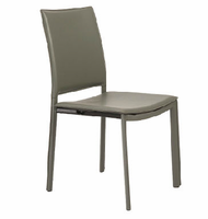 Eurostyle Kate Dark Gray Side Chair ( Set of 4 )