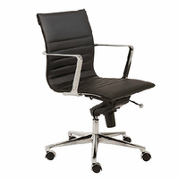 Eurostyle Kyler Black/Chrome Low Back Office Chair