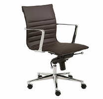Eurostyle Kyler Brown/Chrome Low Back Office Chair