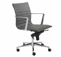 Eurostyle Kyler Gray/Chrome Low Back Office Chair