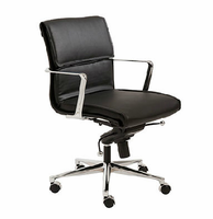 Eurostyle Leif Black/Chrome Low Back Office Chair