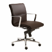 Eurostyle Leif Brown/Chrome Low Back Office Chair