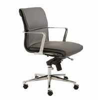 Eurostyle Leif Gray/Chrome Low Back Office Chair
