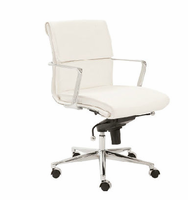 Eurostyle Leif White/Chrome Low Back Office Chair