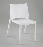 Eurostyle Leslie White Stacking Chair (Set of 4)