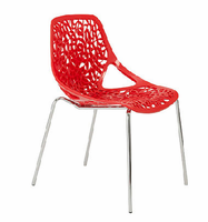 Eurostyle Lovie Red Side Chair (Set of 2)