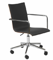 Eurostyle Madge Black/Walnut/Chrome Office Chair