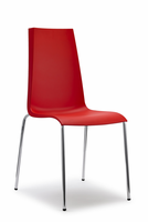 Eurostyle Mannequin Red/Chrome Chair (Set of 4)
