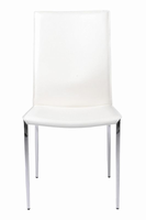 Eurostyle Max Leather White/Chrome Side Chair (Set of 2 )