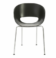 Eurostyle Michele Black Side Chair (Set of 2 )