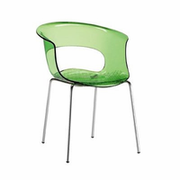 Eurostyle Miss Lime Green/Chrome B Antishock Side Chair (Set of 4)