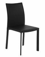 Eurostyle Molly Black Regenerated Leather Chair (set of 4)
