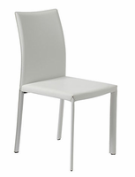 Eurostyle Molly White Regenerated Leather Chair (set of 4)