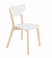 Eurostyle Montana White/Natural Wood Side Chair (Set of 4)