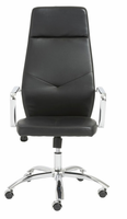 Eurostyle Napoleon Black/Chrome High Back Office Chair