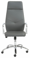 Eurostyle Napoleon Gray/Chrome High Back Office Chair