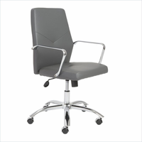 Eurostyle Napoleon Gray/Chrome Low Back Office Chair