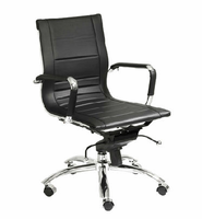 Eurostyle Owen Black/Chrome Low Back Office Chair