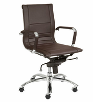Eurostyle Owen Brown/Chrome Low Back Office Chair