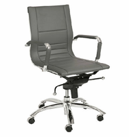 Eurostyle Owen Gray/Chrome Low Back Office Chair