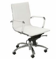 Eurostyle Owen White/Chrome Low Back Office Chair
