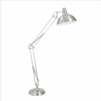 Eurostyle Perdita Brushed Steel Floor Lamp