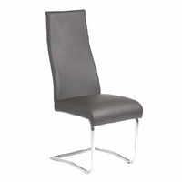 Eurostyle Rooney Brown/Chrome High Back Chair (set of 2)