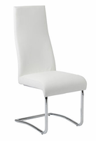 Eurostyle Rooney White/Chrome High Back Chair (set of 2)