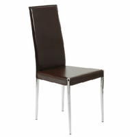 Eurostyle Rosina Brown/Chrome Side Chair (Set of 4 )