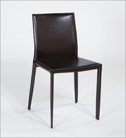 Eurostyle Shen Black Leather Chair (Set of 4)