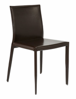 Eurostyle Shen Brown Leather Chair (set of 4)
